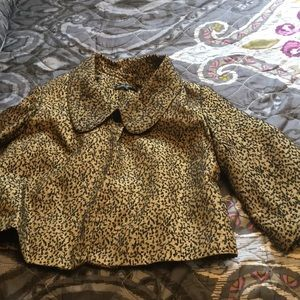 Cute animal print swing coat